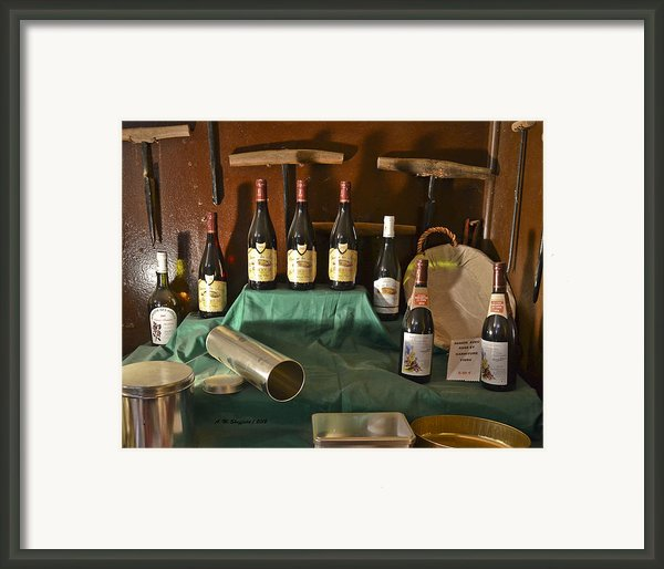 Inside The Wine Cellar Framed Print By Allen Sheffield