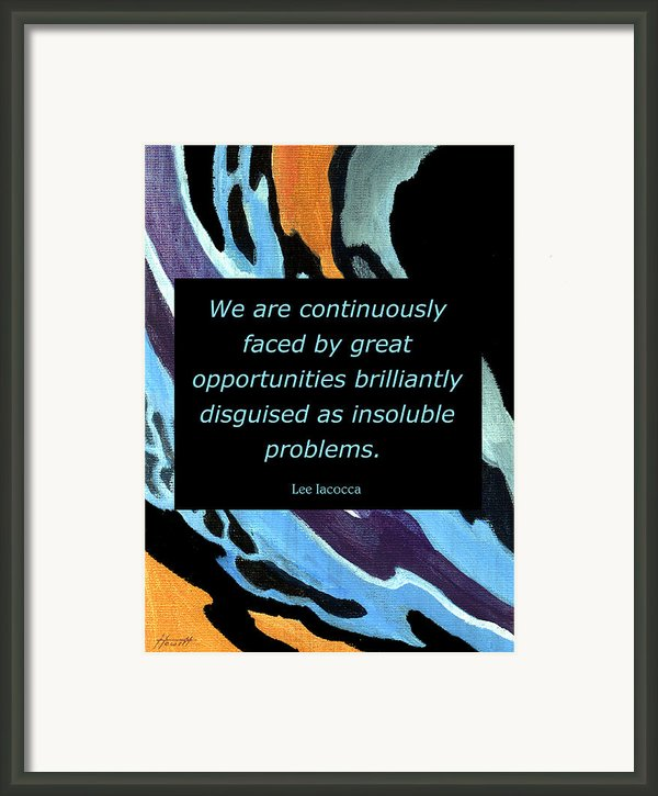 Insoluble Problems Framed Print By Patricia Howitt