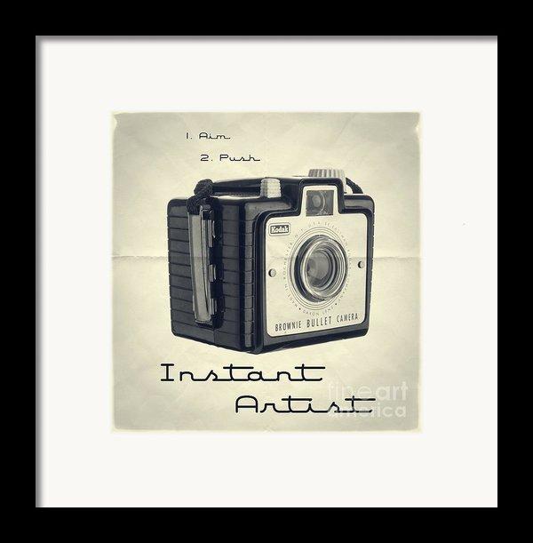 Instant Artist Framed Print By Edward Fielding