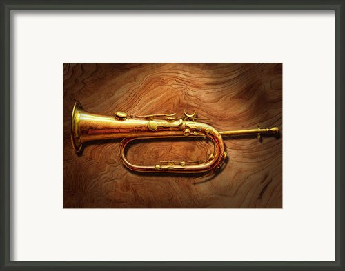 Instrument - Horn - Reveille And Rouse Framed Print By Mike Savad