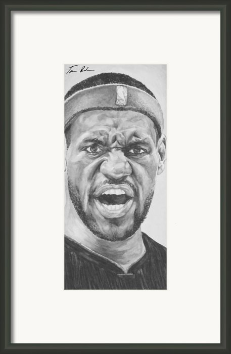 Intensity Lebron James Framed Print By Tamir Barkan