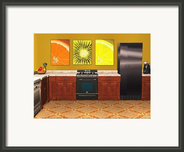 Interior Design Idea - Sweet Orange - Kiwi - Lemon Framed Print By Anastasiya Malakhova