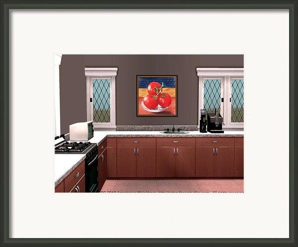 Interior Design Idea - Tomatoes Framed Print By Anastasiya Malakhova