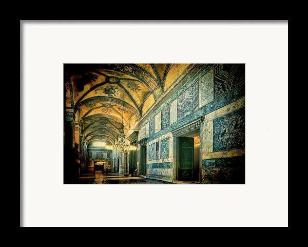 Interior Narthex Framed Print By Joan Carroll