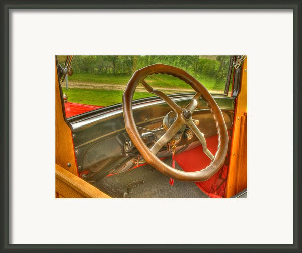 Interior Of A 1926 Model T Ford Framed Print By Thomas Young
