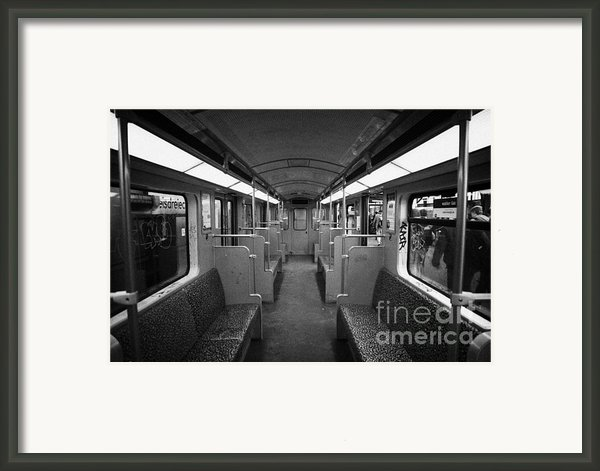 Interior Of A German U-bahn Train Berlin Germany Framed Print By Joe Fox