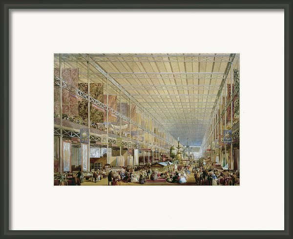 Interior Of The Great Exhibition Of All Framed Print By Edmund Walker