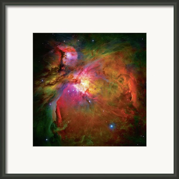 Into The Orion Nebula Framed Print By The  Vault - Jennifer Rondinelli Reilly