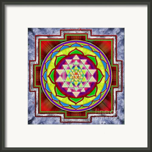Intuition Sri Yantra I Framed Print By Dirk Czarnota