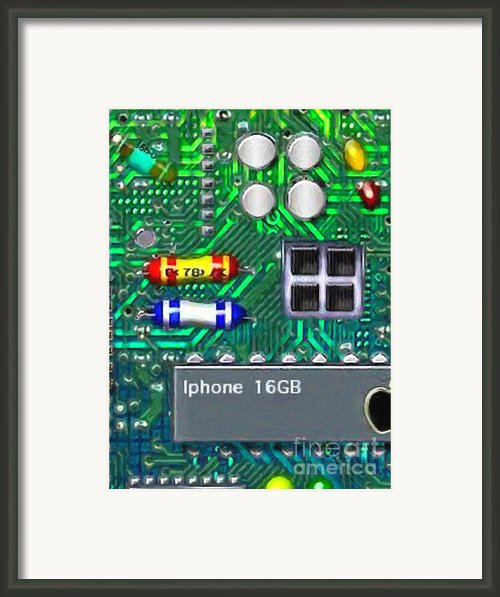 Iphone I-art Framed Print By Wingsdomain Art And Photography