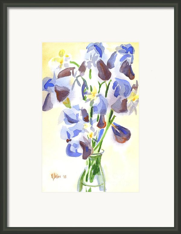Irises Aglow Framed Print By Kip Devore