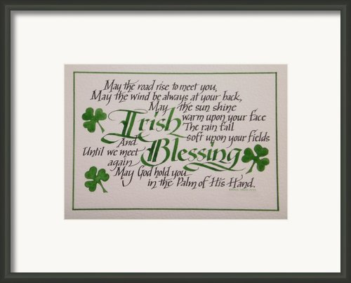 Irish Blessing Horizontal Framed Print By Carol Sabo