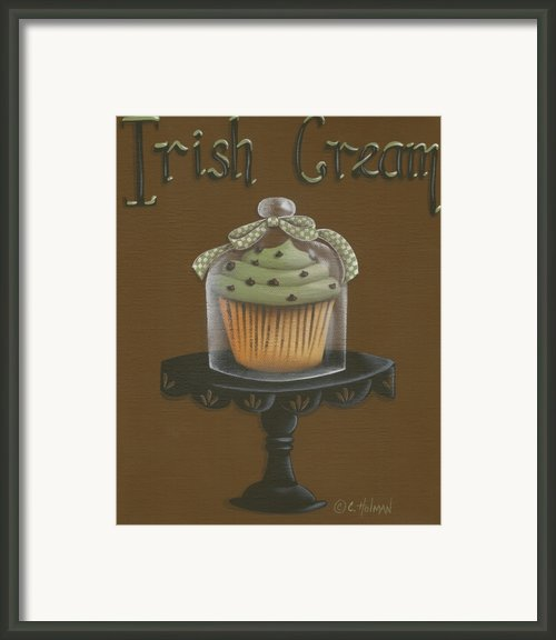 Irish Cream Cupcake Framed Print By Catherine Holman