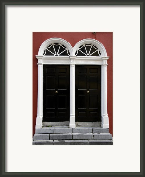 Irish Double Doors Framed Print By Christiane Schulze