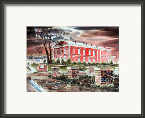 Iron County Courthouse No W102 Framed Print By Kip Devore
