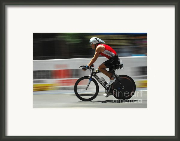 Ironman Flying Framed Print By Bob Christopher