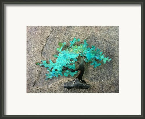 Ishitsuki Copper Bonsai Framed Print By Vanessa Williams