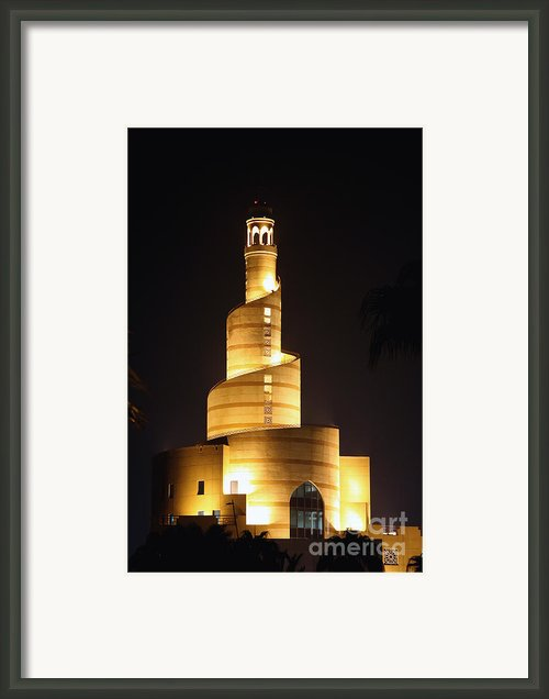 Islamic Centre  Doha Framed Print By Paul Cowan