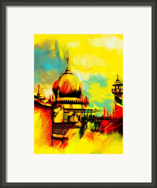 Islamic Painting 001 Framed Print By Catf