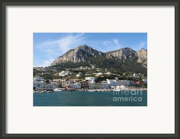 Island Capri Panoramic Sea View Framed Print By Kiril Stanchev