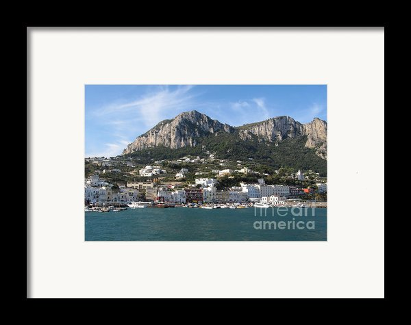 Island Capri Panoramic Sea View Framed Print By Kiril Stanchev