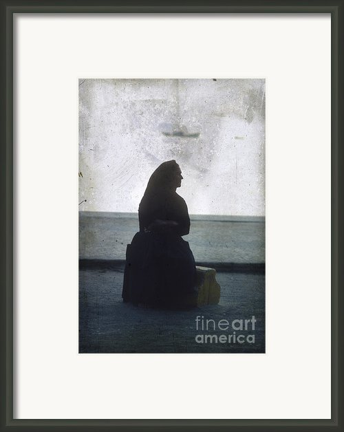 Isolated Woman Framed Print By Bernard Jaubert
