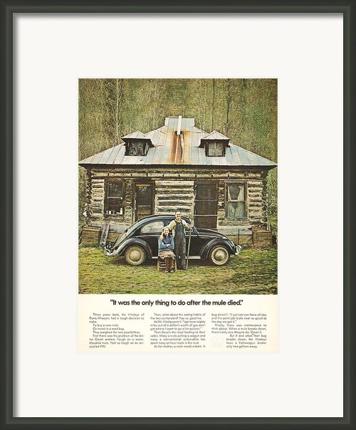It Was The Only Thing To Do After The Mule Died Framed Print By Nomad Art And  Design
