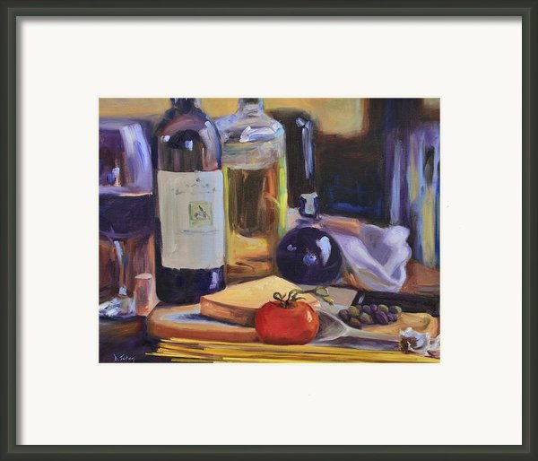 Italian Kitchen Framed Print By Donna Tuten