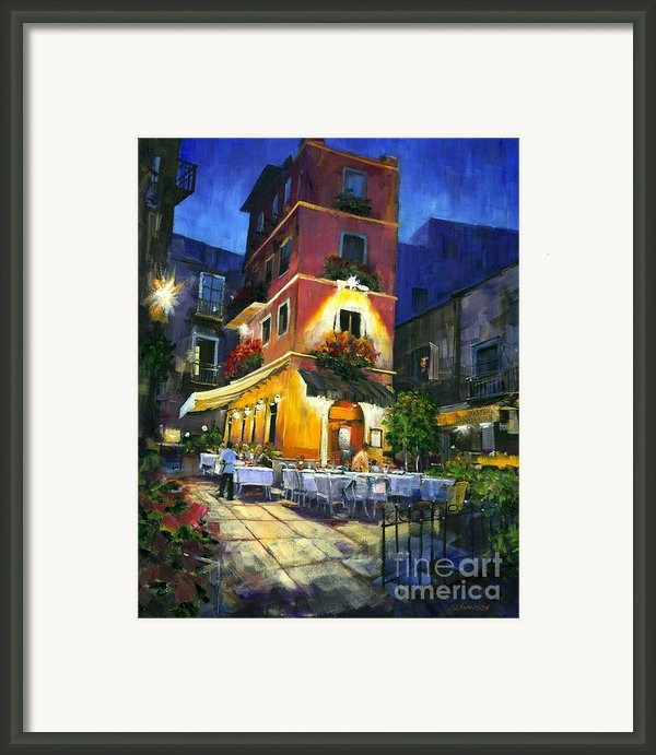 Italian Nights Framed Print By Michael Swanson