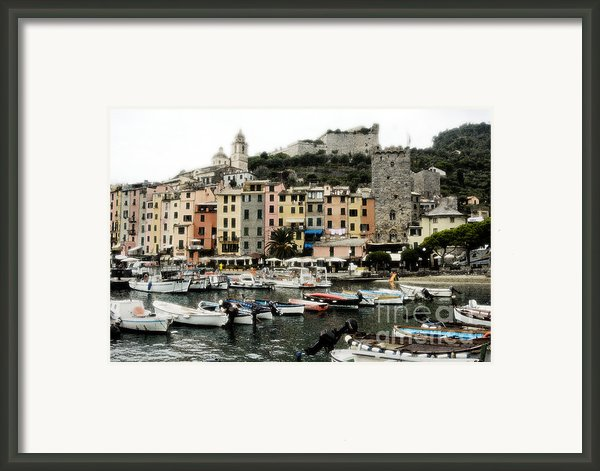 Italian Seaside Village Framed Print By Jim  Calarese