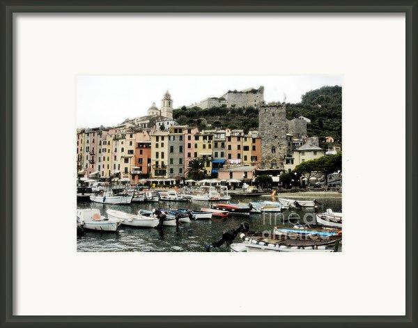 Italian Seaside Village Framed Print By Jim  Calarese