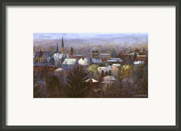 Ithaca Winter Framed Print By Ethel Vrana