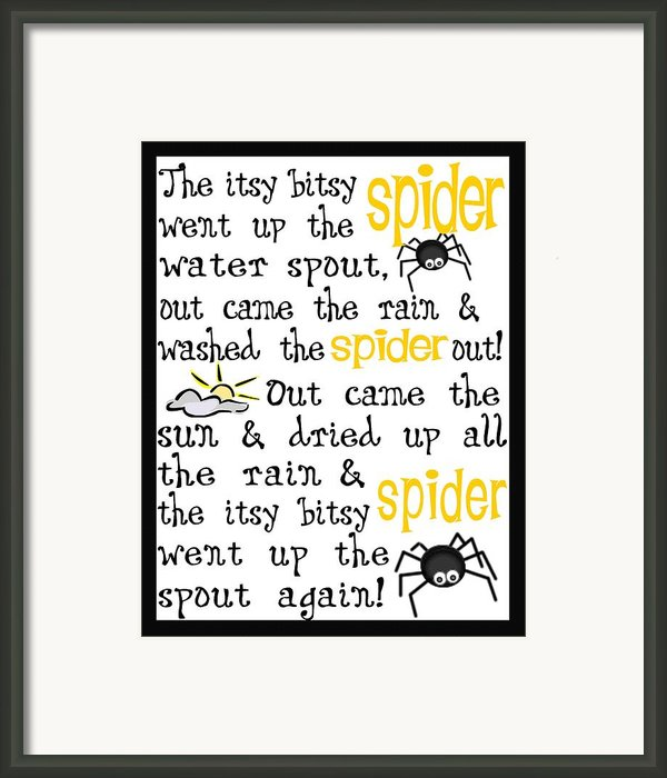 Itsy Bitsy Spider Framed Print By Jaime Friedman