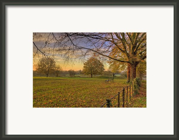 Ivinghoe Autumn Village Sunset Framed Print By David Dwight