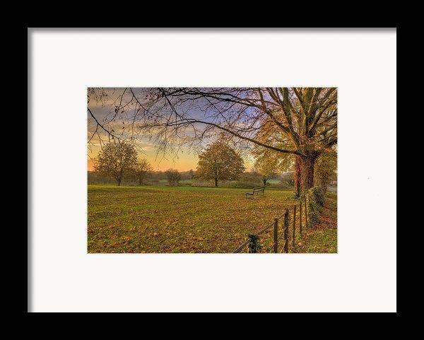Ivinghoe Autumn Village Sunset Framed Print By David Dwight