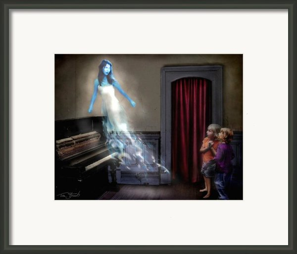 Ivory Ghost Framed Print By Tom Straub