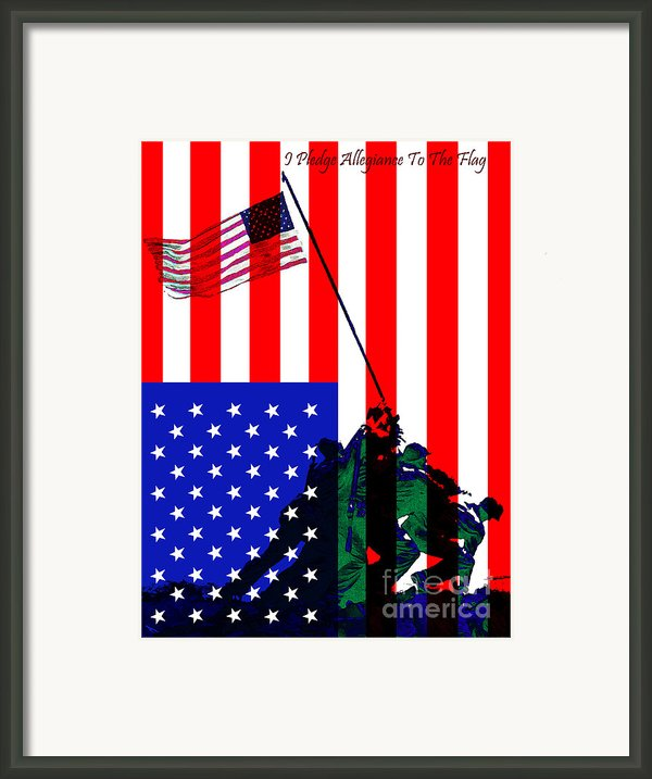 Iwo Jima 20130210 I Pledge Allegiance To The Flag Framed Print By Wingsdomain Art And Photography