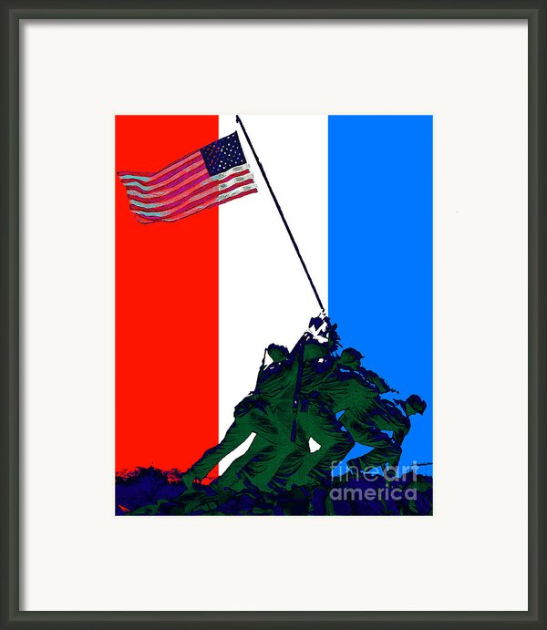 Iwo Jima 20130210 Red White Blue Framed Print By Wingsdomain Art And Photography