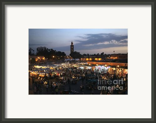 J Ma Fna Place Marrakesh Framed Print By Sophie Vigneault