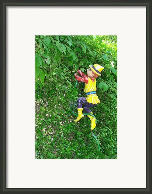 Jack And The Beanstalk Framed Print By Margaret Bobb