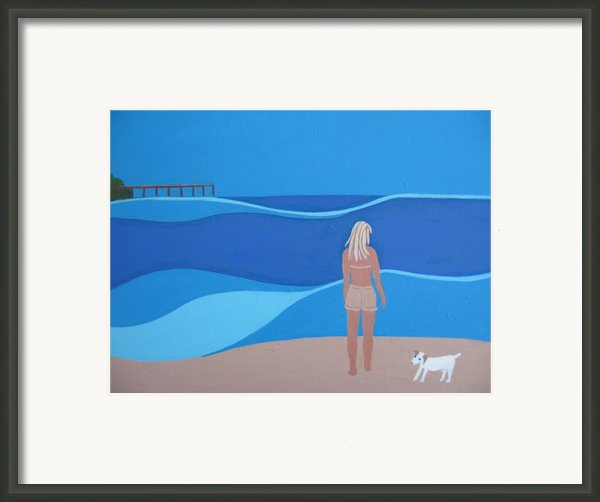 Jack At The Beach Framed Print By Sandra Mchugh