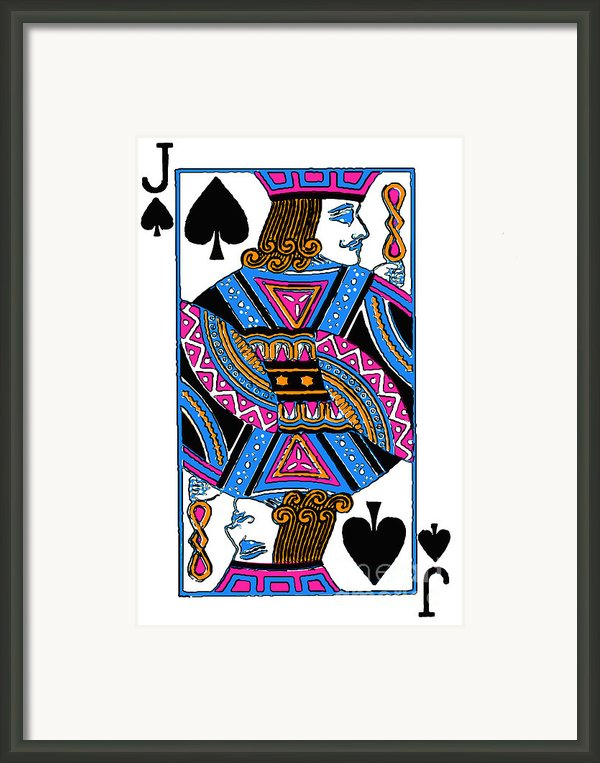 Jack Of Spades - V3 Framed Print By Wingsdomain Art And Photography