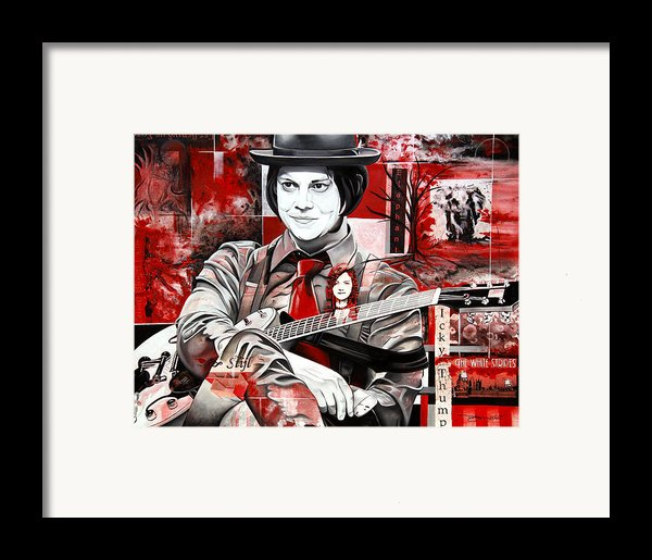 Jack White Framed Print By Joshua Morton