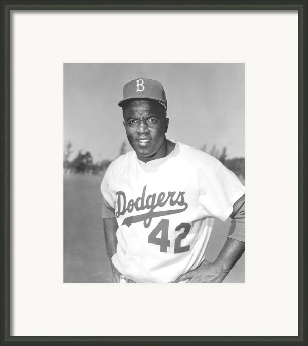 Jackie Robinson Poster Framed Print By Sanely Great
