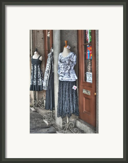 Jackson Square Fashion Framed Print By Brenda Bryant