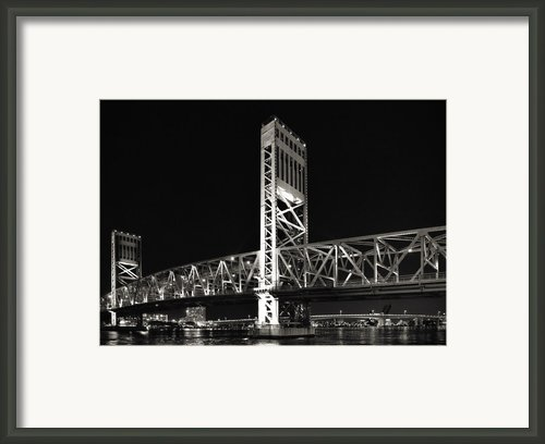 Jacksonville Florida Main Street Bridge Framed Print By Christine Till