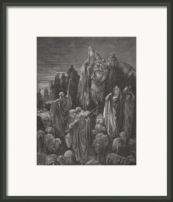 Jacob Goeth Into Egypt Framed Print By Gustave Dore