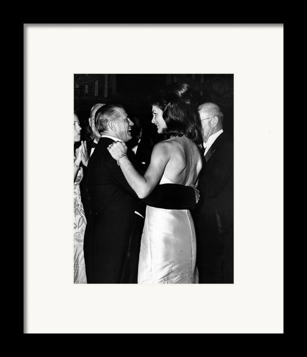 Jacqueline Kennedy Dancing Framed Print By Retro Images Archive