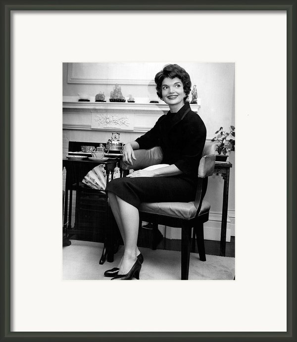 Jacqueline Kennedy Sitting Pretty Framed Print By Retro Images Archive