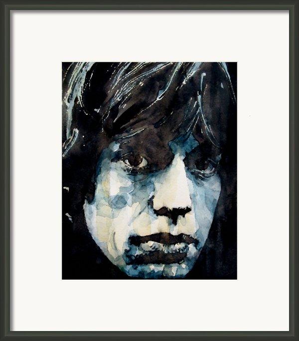 Jagger No3 Framed Print By Paul Lovering